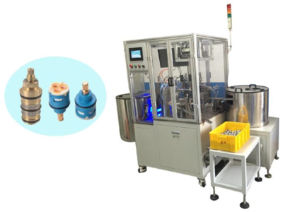 Sanitary spool automation assembly equipment